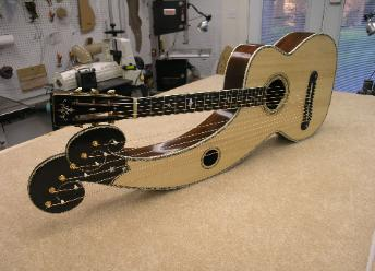 Dyer Style 7 harp guitar
